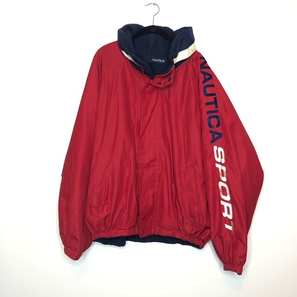 Nautica Other - VTG Nautica  Reversible Spell Out Fleece Lined XL